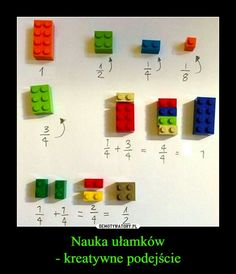 Stefan Keuchel on Fractions with LEGO :] Math For Kids, Diy For Kids, Crafts For Kids, Learning Activities, Kids Learning, Activities For Kids, Simple Math, Easy Math, E Mc2