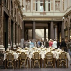 Dining in Paris.