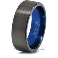 Blue Chromacolor Black Tungsten Ring