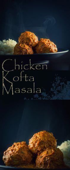 Indian Chicken Kofta Masala: Chicken Kofta Masala, soft Indian chicken meatballs poached in a hot and spicy yet aromatic Indian gravy, fakeaway heaven.