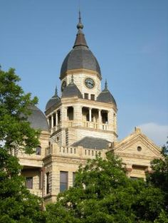 1896 Denton County Courthouse West Side Clock Tower : The Portal to Texas History