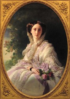 Franz Xaver Winterhalter - Princess Olga von Württemberg, 1856. Grand Duchess Olga Nikolaevna (1822-1892), the 3d child of Russian Emperor Nicholas I, in marriage – Princess, later Queen consort of Württemberg.
