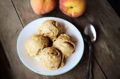 3 Ingredient Peach Ice Cream