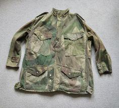 Vintage-1940s-British-Army-Airborne-Half-Zip-Denison-Smock-Selvedge-Twill