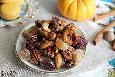 Pumpkin Pie Spiced Trail Mix {Beard and Bonnet} #glutenfree #vegan