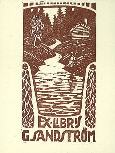 ***Ex libris ~ for Gustaf Sandström by Stifts- och landsbiblioteket i Skara, via Flickr