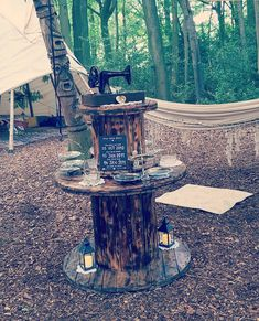 Creative & Alternative Rustic Wedding Ideas Cable Drum, Cable Reel, Woodland Wedding, Rustic Wedding, Wedding Events, Wedding Ideas, Centre Pieces, Alternative Wedding, Event Styling