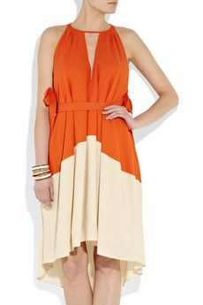 $600.00 Marc By Marc Jacobs Color Block silk Crepe de Chine Dress