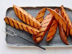 Grilled Sweet Potatoes : The grilled wedges are perfect with a chili-rubbed steak.