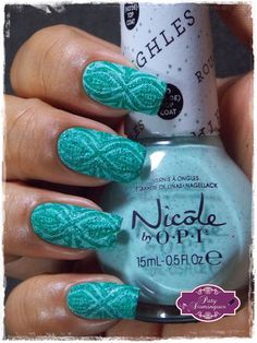 On what grounds? - Nicole by OPI carimbado com DRK Magic Garden