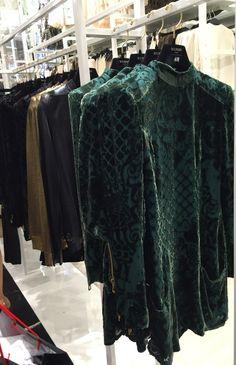 H&M Balmain Green Velvet Green Velvet, Balmain, Vip, Kimono Top, Product Launch, Party, Women, Fashion, Moda
