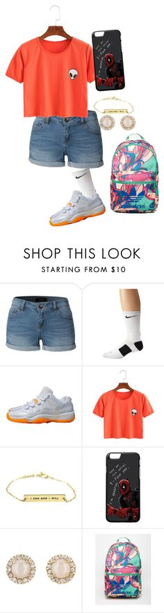 """""""Untitled #84"""" by rosey2002 on Polyvore featuring LE3NO, NIKE, Kate Spade and adidas"""