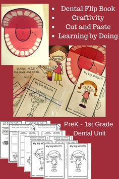 This Dental Unit will have your students making a Big Mouth Craftivity, Learning all about Dentist, teeth, and Good and Bad Food choices by using an Interactive Flip-It Book, and Singing songs.This is a week long activity that is sure to bring a smile to your students faces.Click on picture to see and learn more about all that's included in this resource. $3
