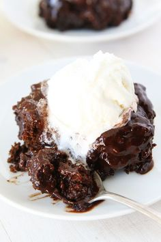 Chocolate Pudding Cake Recipe ... A rich and moist chocolate cake with a silky chocolate pudding sauce. This easy cake is divine!