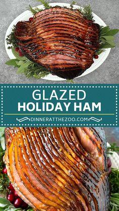 Cheesy Recipes, Healthy Chicken Recipes, Easy Healthy Recipes, Mexican Food Recipes, Vegetarian Recipes, Cooking Recipes, Honey Baked Ham Recipe, Honey Baked Ham Glaze, Baked Ham Recipes