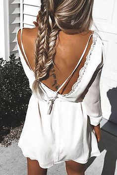 Boho Summer Clothes - Backless Boho Dress. Dress, jewelry, and fashion. I love this style!