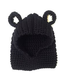 Toddler Hooded Bear Cowl by LittleBirdCrochets on Etsy