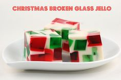 Broken glass jello. Perfect in any colour, any holiday.