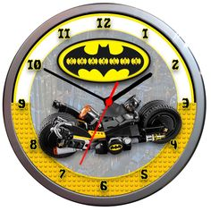 THE LEGO BATMAN Personalised Kids Silver Wall Clock Gift Add a name