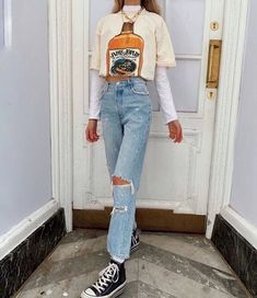 Source by college outfits casual Indie Outfits, Teen Fashion Outfits, Edgy Outfits, Retro Outfits, Look Fashion, Outfits For Teens, Vintage Outfits, Skater Outfits, Photoshoot Fashion