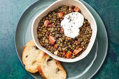 Slow Cooker Lentil and Kielbasa Stew