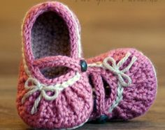 Crochet Patterns Too Cute  Mary Janes with gathering pattern number 210 Instant Download