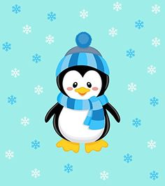 Penguin Boy Design, Fabric Panel Printed on Organic Knit, 15 Inches Wide X 19 Inches High Panel) Christmas Drawing, Felt Christmas, Christmas Crafts, Moldes Halloween, Penguin Illustration, Penguins And Polar Bears, Penguin Birthday, Weather Crafts, 1st Birthday Party Themes