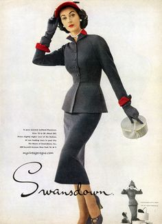 Dovima for Swansdown 1951
