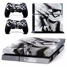 Skin Sticker For PS4 PlayStation 4 Console and 2 Controller Protector Skin