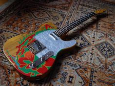Jimmy Page's Dragon Tele his yard bird guitar and  the tele most of led zep 1 was recorded on