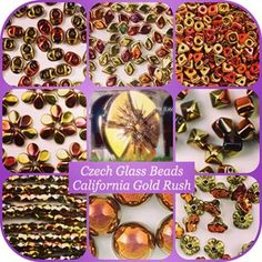 California Gold Rush beads shine as bright as a golden circle monument in the center of Milan 🔆 Chic Czech glass beads finish! Delicate, precious, shiny, always a bestseller, full of golden shades.. California Gold Rush - shades of sunny gold!  All the beads are available at hautehobby.com and HauteHobby  on Etsy. #hautehobby #czechglassbeads