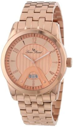 Lucien Piccard Men's LP-12355-RG-99 Diablons Rose Gold Tone Dial Stainless Steel Watch by Lucien Piccard -- Awesome products selected by Anna Churchill