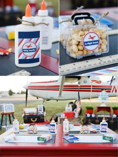 Time Flies Airplane 1st Birthday Party Beverage Birthdays and