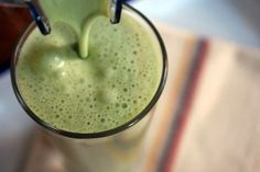 The Famous Shrek Shake  2 scoops Vi shake  1/2 frozen bananna  2-3 heaping handfuls of spinach  stevia to taste if desired  8-12oz almond milk  ice. and blend well in blender. This is so yummy. Promise you won't taste the spinach!