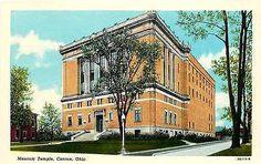 Canton Ohio OH 1950 Masonic Temple Collectible Antique Vintage Postcard
