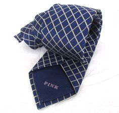 "Thomas Pink Tie Royal Blue Checkered Plaid Textured Gold Skinny Silk 58"" Necktie #ThomasPink #NeckTie"