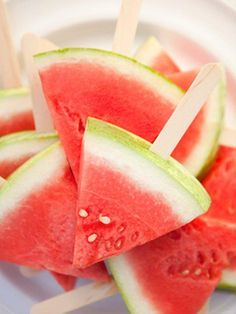 Watermelon on a stick #July4thideas #July4thfoods