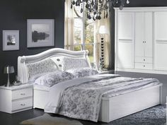 Enhance the appearance of your bedroom with this trendy bedroom set. This refined bedroom set comprises of a bed, a wardrobe and a dresser. Wood Furniture Store, Kids Bedroom Furniture, Online Furniture Stores, Home Office Furniture, Home Bedroom, King Size Bedroom Sets, Bunk Bed With Desk, Cool Beds, Trendy Bedroom