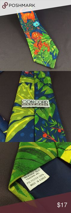 """Concord T-Rex Dinosaur Tie 57"""" Concord Hand Made Neck Tie T-Rex Dinosaur Excellent condition. Smoke free. 57"""" Length  4"""" Width  RT1 Concord Accessories Ties"""