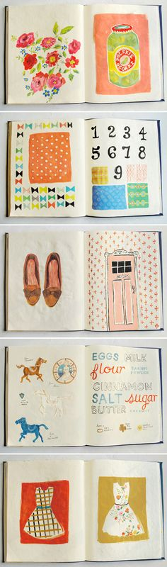 Danielle Kroll''s sketchbook. We'd love to do a #booklet / #brochure design inspired by this