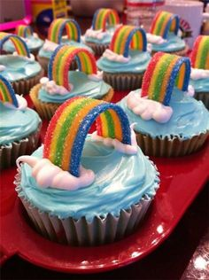 Rainbow cupcakes✿ Rainbow cupcakes✿ Rainbow cupcakes✿