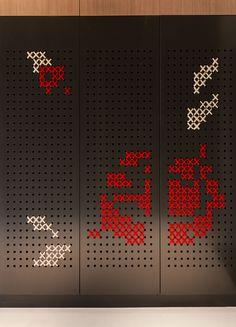 DECOR IDEA --– Cross-Stitch On A Closet Door