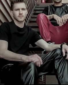 Leather Trousers, Hot Guys, Album, Fictional Characters, Fashion, Leather Pants, Leather, Moda, Fashion Styles