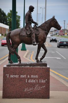 """I never met a man I didn't like."" -Will Rogers. In #Claremore, OK, with Knockout! Tanya."