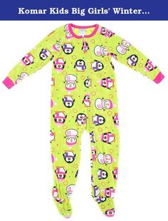 Komar Kids Big Girls  Winter Fun Fleece Blanket Sleeper dd4b919b8