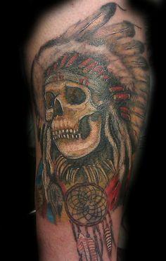 Tattoos Indian Skull Arm Ideas Men Design