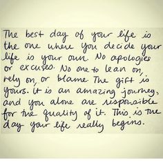 """The best day of your life"""