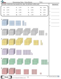 *Common Core sheets Value & Place Value Worksheets and all topics