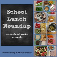 School Lunch Roundup | no lunchmeat #realfood | packed @EasyLunchboxes via MoneywiseMoms
