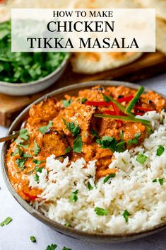 Chicken Tikka Masala Chicken Tikka Masala Chicken Tikka Masala - tender chunks of marinated chargrilled chicken in a creamy mild sauce with garlic, ginger and spices. Kids and adults alike love this dish. Poulet Tikka Masala, Tandoori Masala, Chana Masala, Beef Tikka Masala Recipe, Chicken Tikka Marsala Recipe, Tikka Masala Sauce, Indian Food Recipes, Asian Recipes, Healthy Recipes